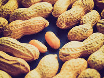 Retro look Peanut picture Royalty Free Stock Images