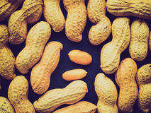 Retro look Peanut picture Royalty Free Stock Photo