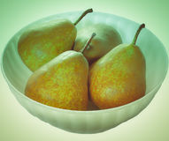 Retro look Pear picture Stock Images