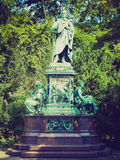 Retro look Peter Cornelius monument Royalty Free Stock Photography