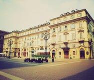 Retro look Piazza Carignano Turin Stock Image