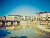 Retro look Piazza Vittorio, Turin Stock Photo