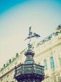 Retro look Piccadilly Circus, London Royalty Free Stock Photos