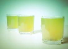 Retro look Pineapple juice Stock Photos