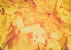 Retro look Potato chips crisps Royalty Free Stock Photo