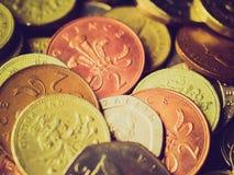 Retro look Pounds Royalty Free Stock Photo