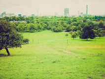 Retro look Primrose Hill London Royalty Free Stock Image