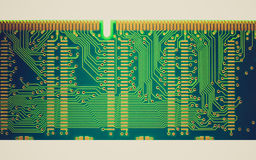 Retro look Printed circuit Royalty Free Stock Photos