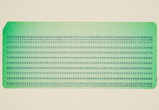 Retro look Punched card Royalty Free Stock Photography