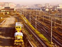 Retro look Railway Royalty Free Stock Photo