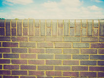 Retro look Red bricks Stock Image