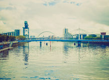 Retro look River Clyde Royalty Free Stock Images