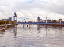 Retro look River Clyde Stock Photography