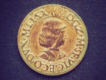 Retro look Roman coin Stock Images