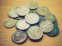 Retro look Roman coin Royalty Free Stock Images