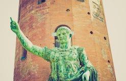 Retro look Roman statue Royalty Free Stock Images