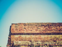 Retro look Roman Wall, Turin Royalty Free Stock Photos