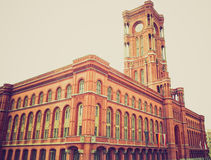 Retro look Rotes Rathaus, Berlin Royalty Free Stock Photos