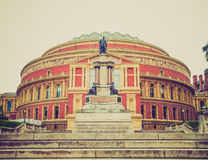 Retro look Royal Albert Hall London Royalty Free Stock Image