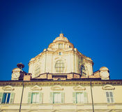 Retro look San Lorenzo church, Turin Stock Photos