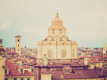 Retro look San Lorenzo, Torino Royalty Free Stock Photography