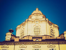 Retro look San Lorenzo Turin Stock Photo