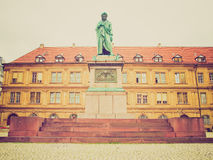 Retro look Schillerplatz, Stuttgart Royalty Free Stock Photography