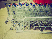 Retro look Shopping carts Stock Photos