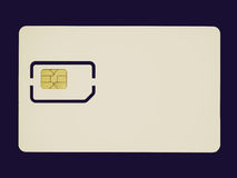 Retro look Sim card Royalty Free Stock Image