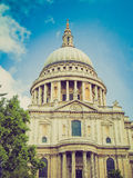 Retro look St Paul Cathedral, London Royalty Free Stock Photo