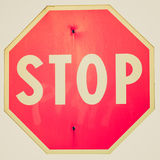 Retro look Stop sign Stock Photography