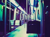 Retro look Subway train Stock Photo