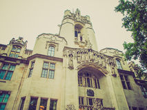 Retro look Supreme Court London Royalty Free Stock Image