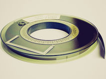 Retro look Tape reel Stock Image