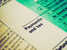 Retro look Tax forms Stock Photography
