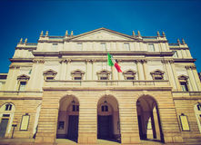 Retro look Teatro alla Scala, Milan Royalty Free Stock Images
