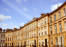 Retro look Terraced Houses Stock Image