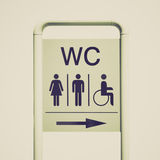 Retro look Toilet sign Stock Photo