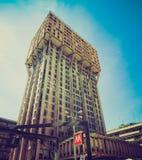 Retro look Torre Velasca, Milan Stock Photo