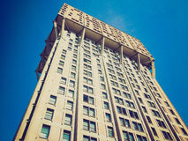 Retro look Torre Velasca, Milan Royalty Free Stock Images