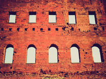 Retro look Torri Palatine, Turin Stock Photography