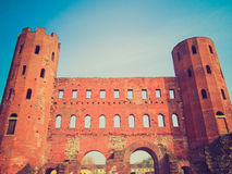 Retro look Torri Palatine, Turin Stock Photos