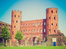 Retro look Torri Palatine, Turin Stock Photo