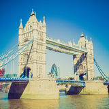 Retro look Tower Bridge London Royalty Free Stock Photography