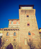Retro look Tower of Settimo Stock Images