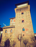 Retro look Tower of Settimo Royalty Free Stock Photos