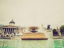 Retro look Trafalgar Square, London Stock Photos