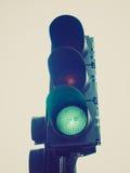Retro look Traffic light semaphore Stock Image