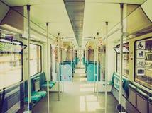Retro look Train interior Stock Images