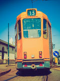 Retro look A tram Royalty Free Stock Photography